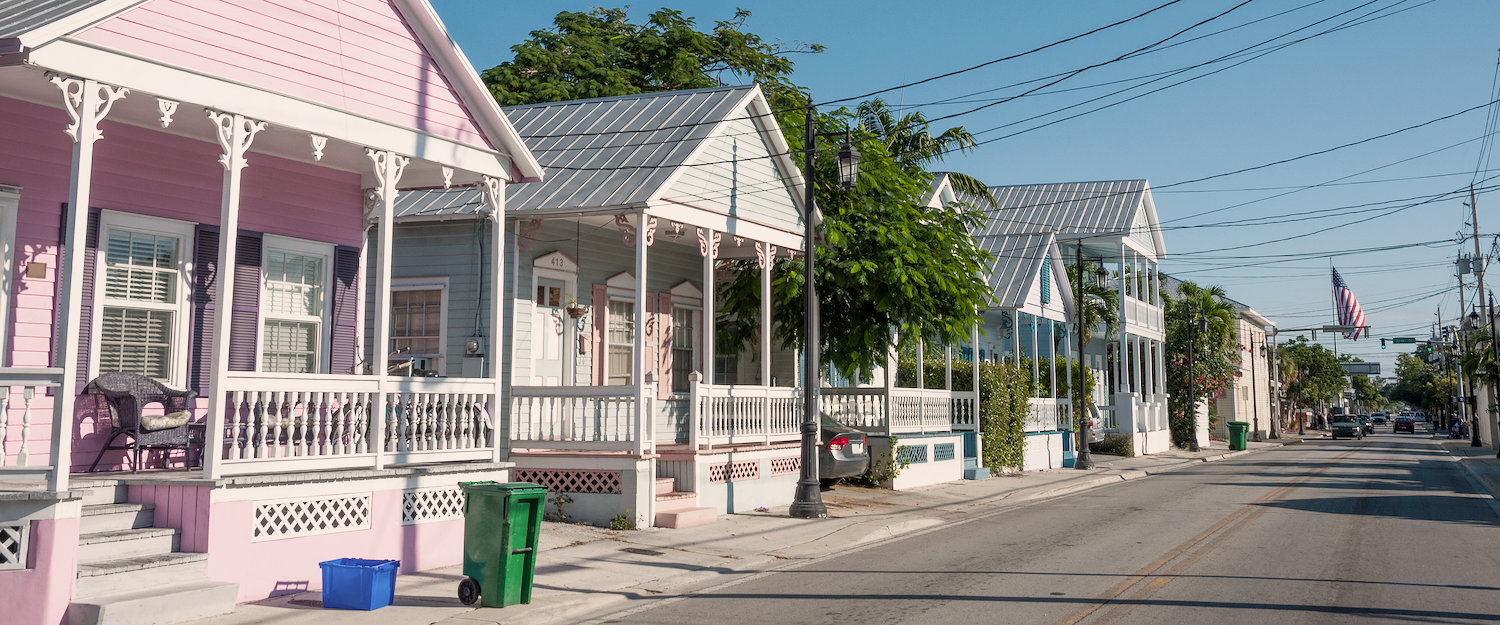 Bunte Häuser in Key West