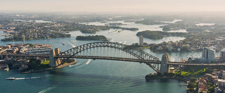 Widok mostu portowego w Sydney