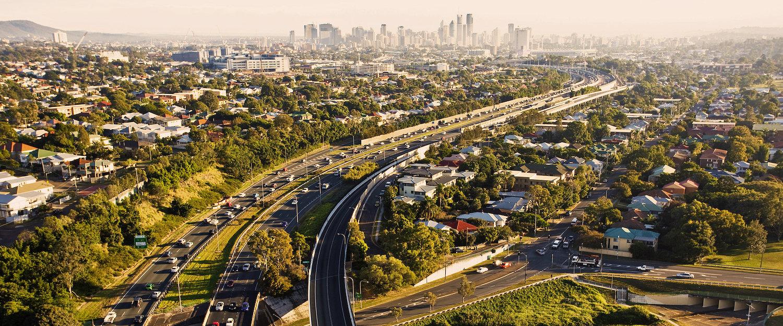 Morgendliche Rush Hour in Brisbane