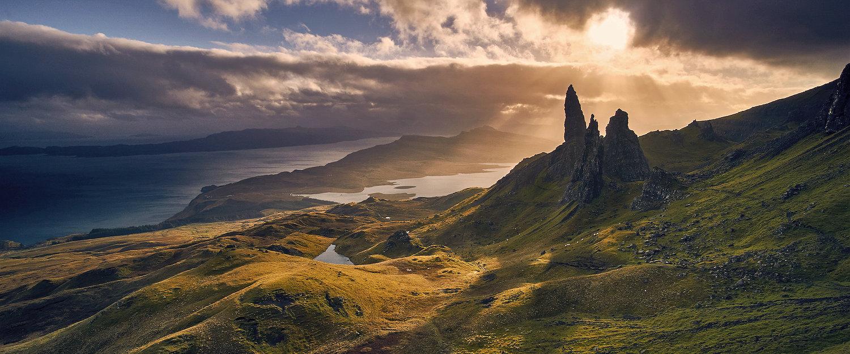 Traumhafte Landschafte auf der Insel Skye