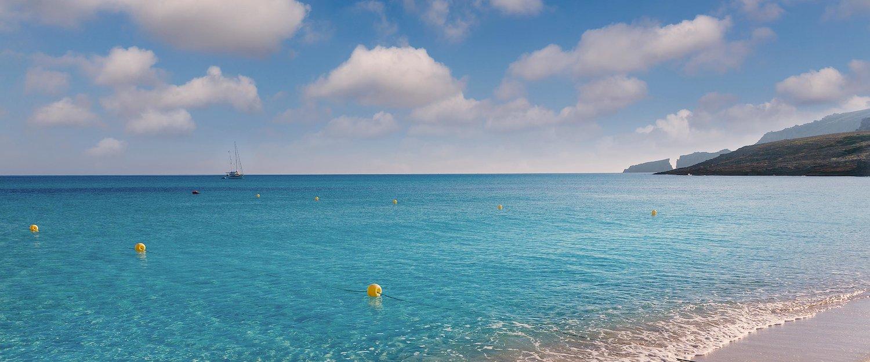 La hermosa playa Font de sa Cala
