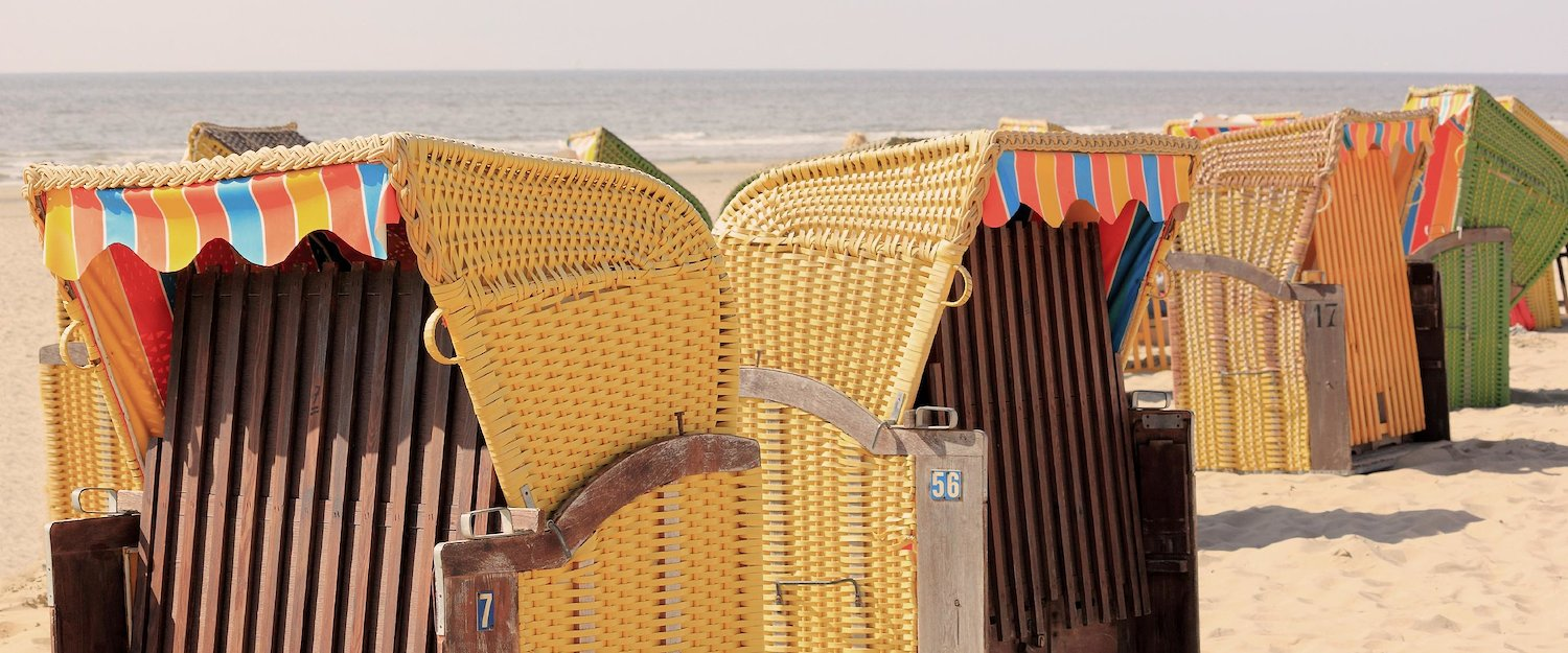 Beach chairs for relaxation