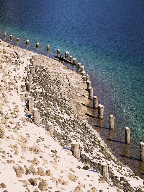 Kust van het Walchensee meer