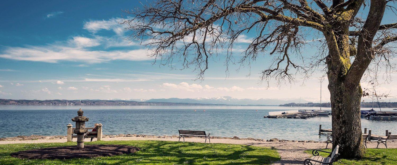 Traumhaftes Bergpanorama am Starnberger See