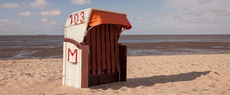 Strandkorb in Cuxhaven