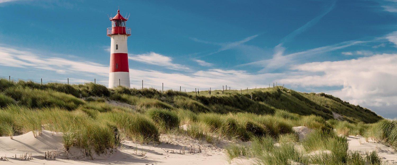 An island typical lighthouse