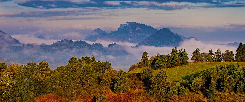 Malowniczy krajobraz w Pieninach