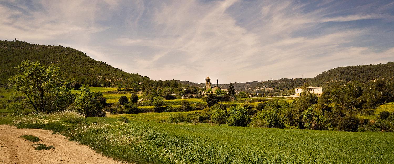 El paisaje de los alrededores de Manresa
