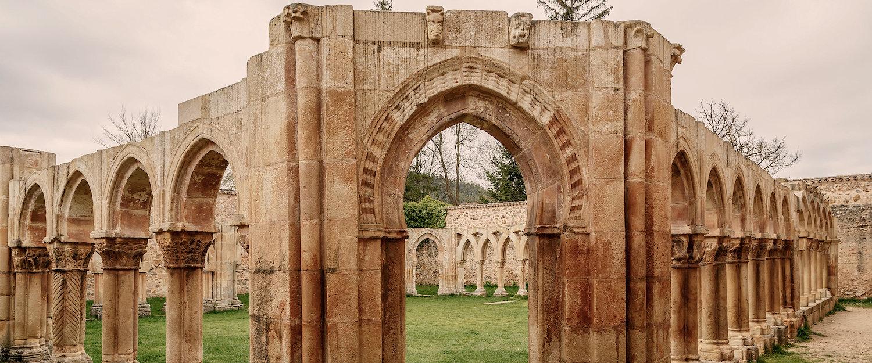 Las ruinas del antiguo convento de San Juan en Soria