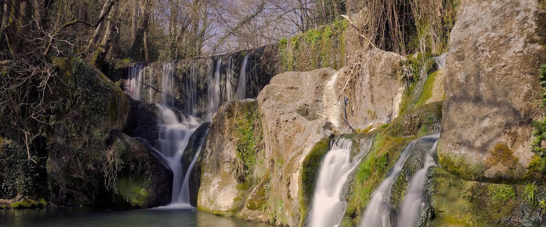 Cascada en el rio Fluviá en Olot
