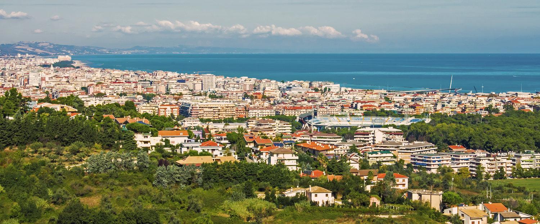 Vista panoramica di Pescara.