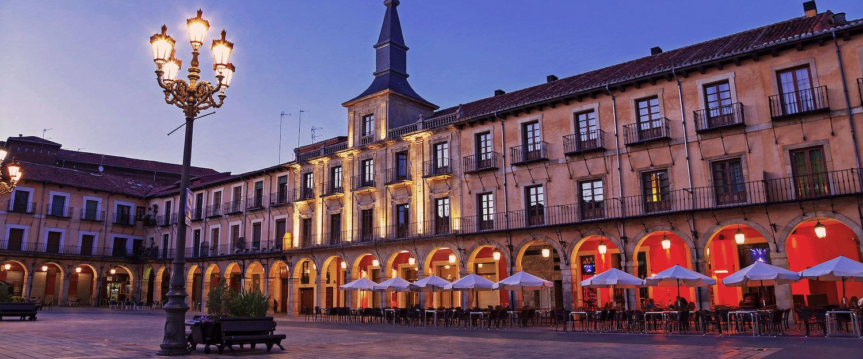 La Plaza Mayor de León