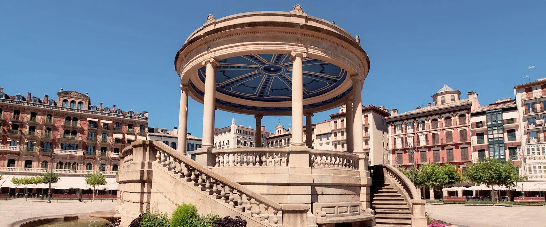 La Plaza del Castillo en Pamplona