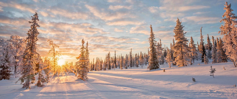 Der Wintersportort Saariselkä in Lappland