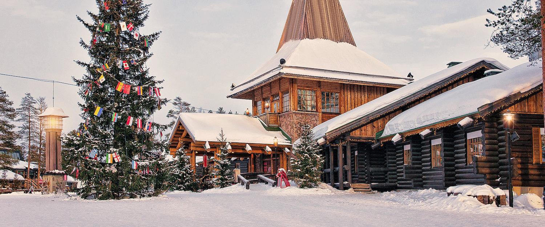 Weihnachtsmanndorf am Polarkreis in Rovaniemi in Lappland