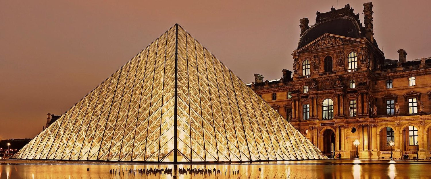 The Louvre Museum and its famous pyramid