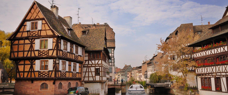 Die Stadt Straßburg im Elsass