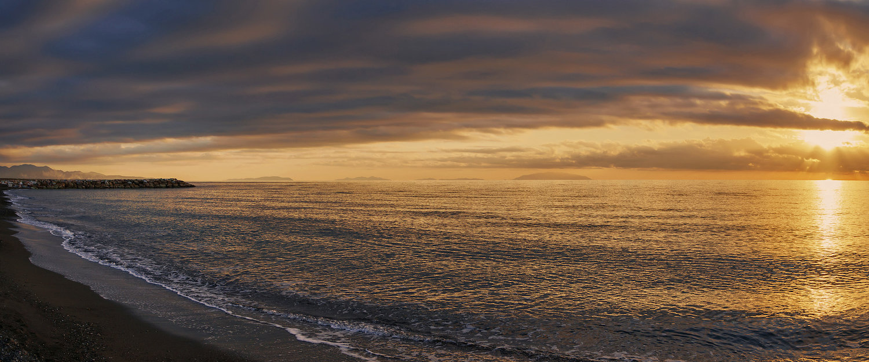 Sonnenuntergang in Cecina