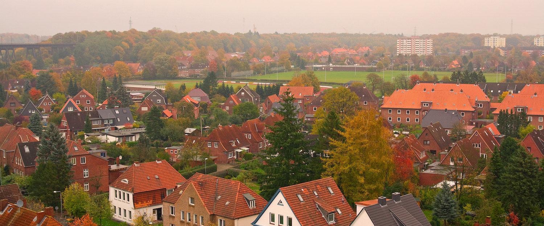 Rendsburg von oben