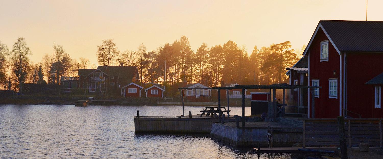Schwedisches Fischerdorf auf Alnön