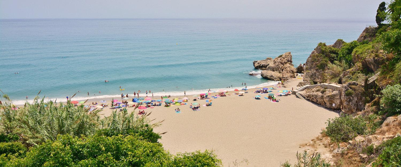 Típica playa de la Costa de Axarquía