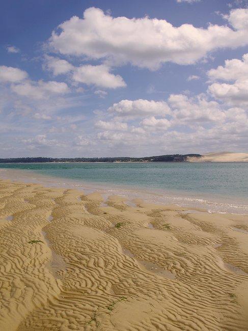Sandbank in einer Bucht bei Arcachon