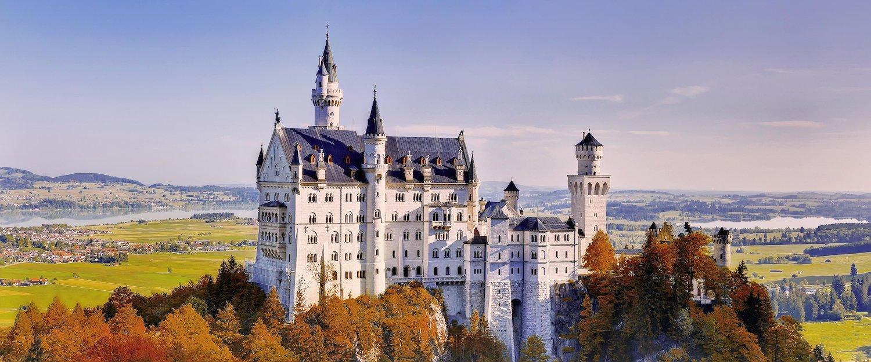 Das Schloss Neuschwanstein im Herbst