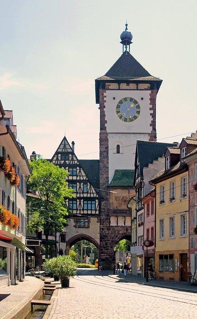 Romantische Altstadt von Freiburg