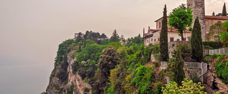 Restaurant Miralago in Pieve am Steilfeslen mit Blick auf den Gardasee