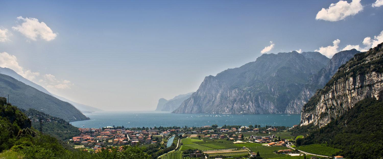 Blick auf den Gardasee von Arco aus
