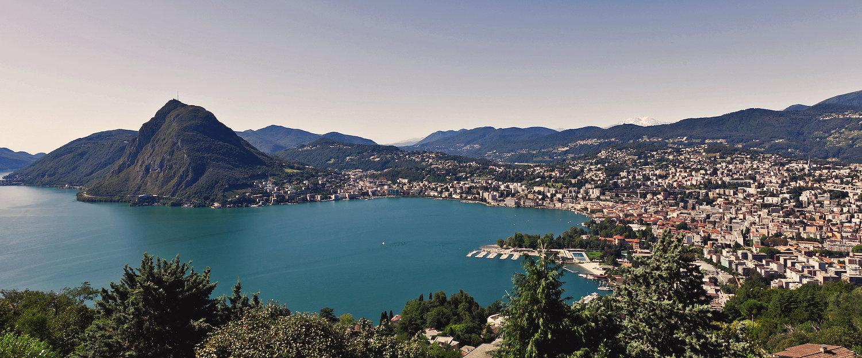 Traumhafter Ausblick über Lugano und den See