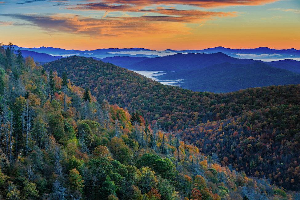 Camping in Blue Ridge Mountains