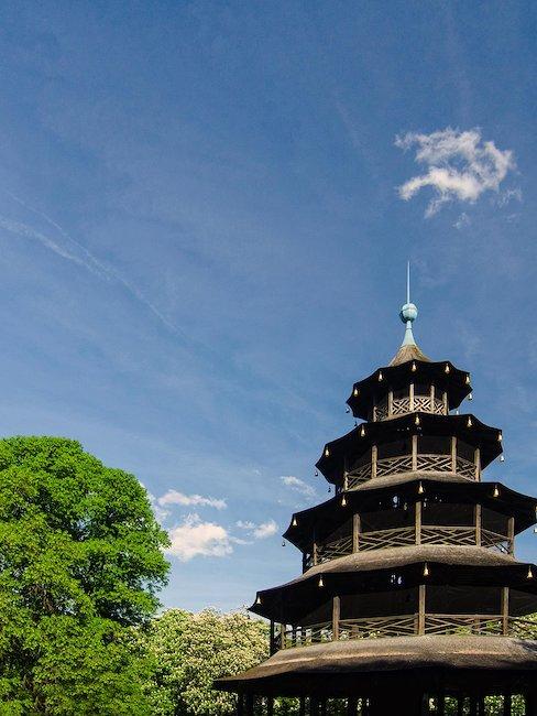Der chinesische Turm im englischen Garten