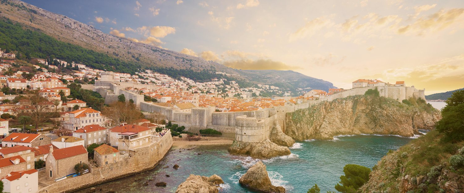 Amazing view over the historic city of Dubrovnik