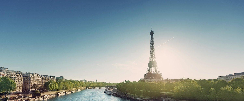 Vista da Famosa Torre Eiffel