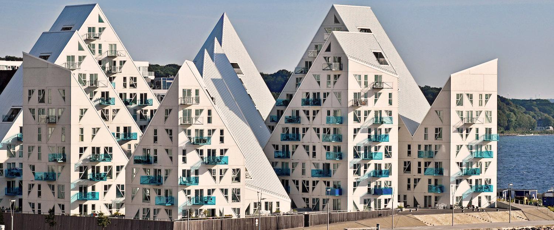 """Wohn Komplex """"Isbjerget"""" (Eisberg) in Aarhus"""