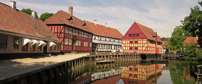 Schöne Altstadt in Aarhus, Dänemark