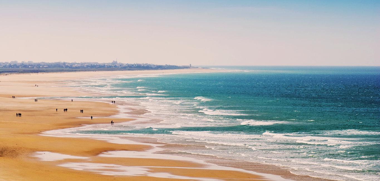 Kilometros de playas en la Costa de la Luz