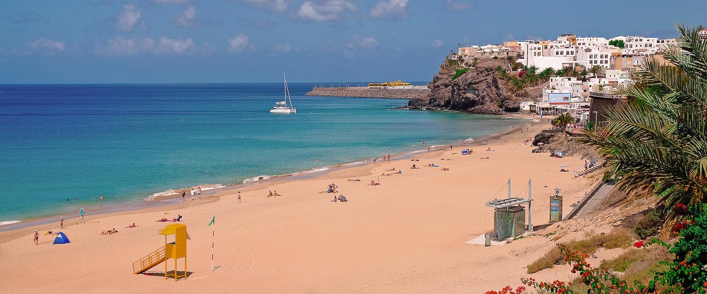 Vista de la playa de Morro Jable