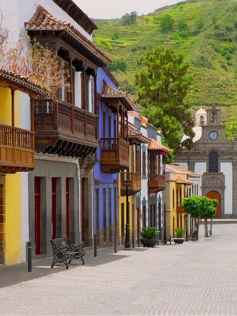 Las coloridas casas coloniales de Las Palmas