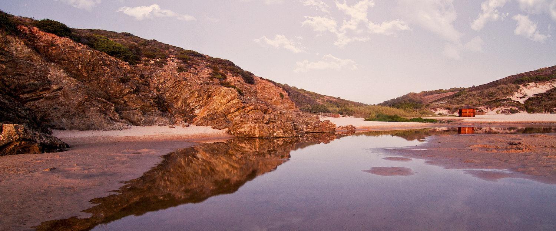 Praia na Costa de Galé