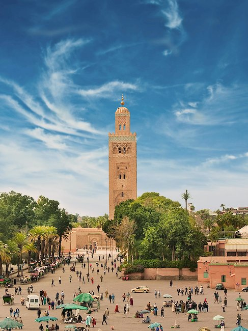 La Plaza de Yamaa el Fna en Marrakech