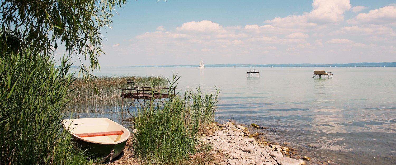 Der idyllische Balaton im Sommer