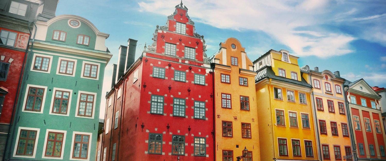Maisons colorées Stockholm