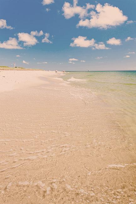 Jedna z plaż na Półwyspie Helskim