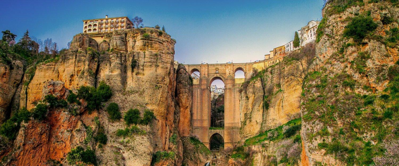 Puente Nuevo-broen ved Malaga