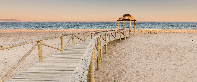 Entrada a la playa de Chipiona