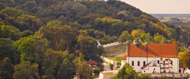 Widok na kościół Farny św. Jana Chrzciciela