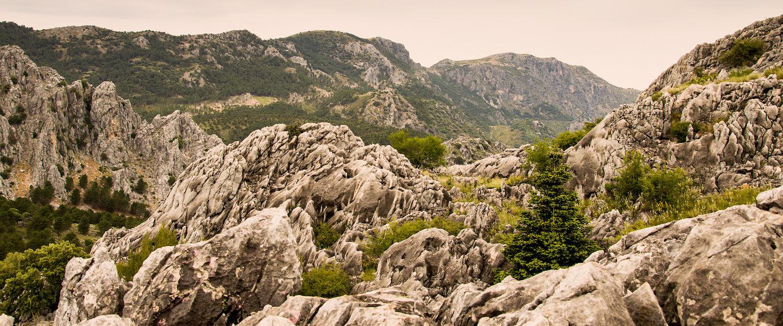 El precioso paisaje del Parque natural Sierra de Grazalema