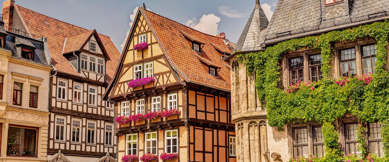Schöne Stadt mit Fachwerkhäusern im Harz